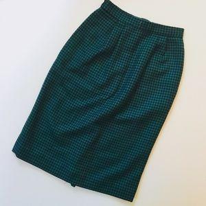 Vintage wool midi pencil skirt